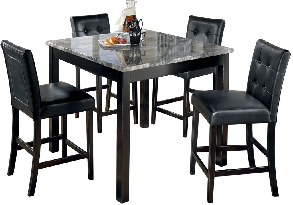 Signature Design By Ashley Dining Room Maysville Counter Height Dining Table And Bar Stools Set Of