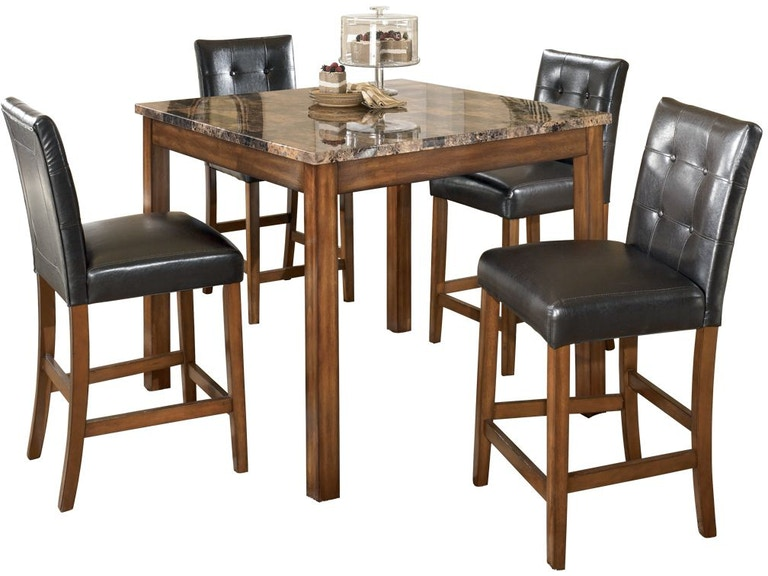 Theo Counter Height Dining Room Table And Bar Stools Set Of 5