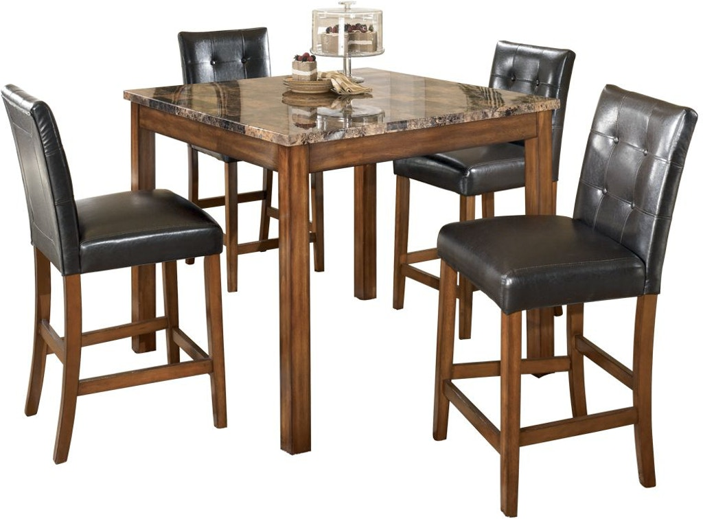 Signature Design By Ashley Dining Room Theo Counter Height Dining Table And Bar Stools Set Of 5