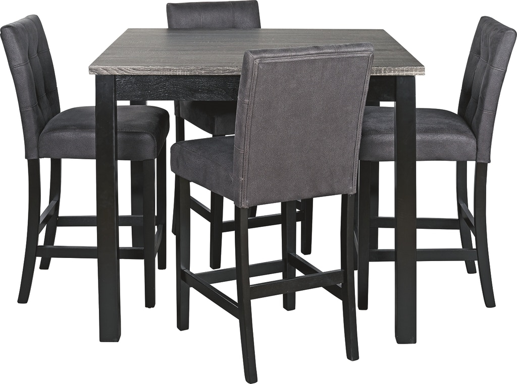 Signature Design By Ashley Bar And Game Room Garvine Counter Height Dining Table And Bar Stools