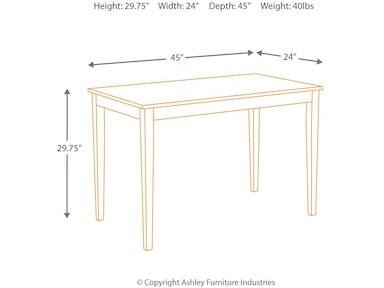 Ashley Kimonte Dining Room Table D250 25 Portland Or