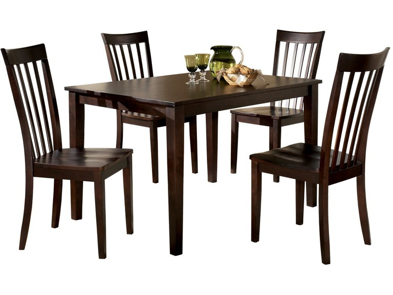 Ashley Hyland Dining Room Table And Chairs Set Of 5 D258 225 Markson S Furniture Rochester