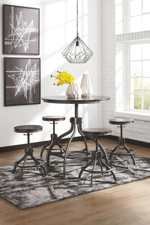 Signature Design By Ashley Odium Counter Height Dining Room