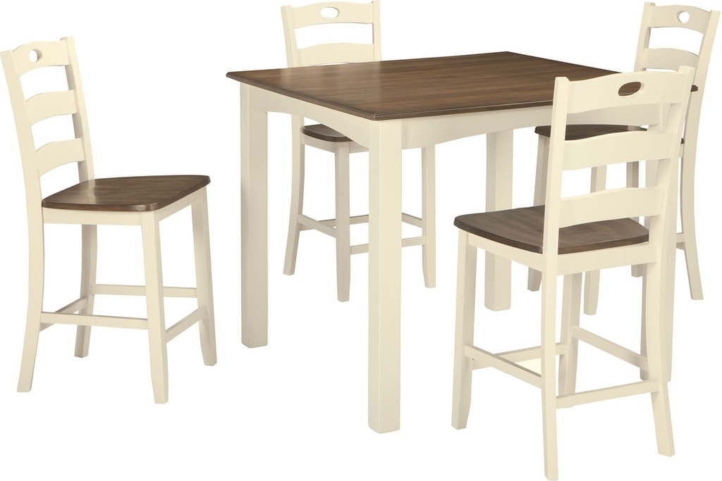 Woodanville Counter Height Dining Room Table And Bar Stools Set Of 5