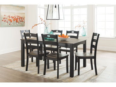 dining room table set. D338 425  Froshburg 7pc Dining Room Table Set Sets Furniture Winner Louisville