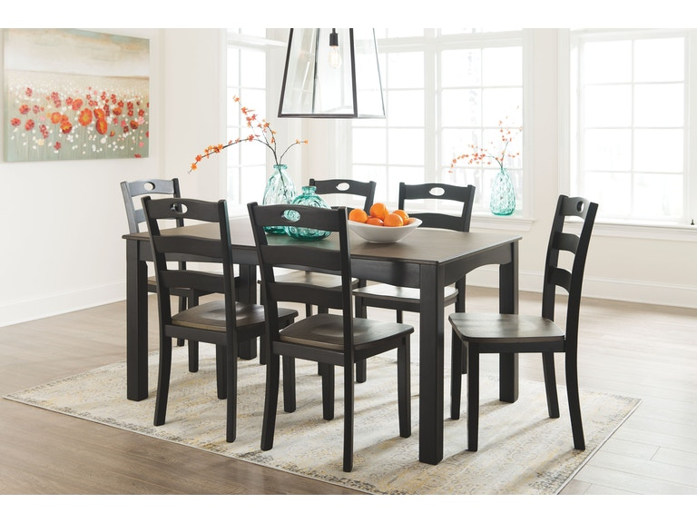 Signature Design by Ashley Dining Room Table Set (7/CN) D338-425 ...