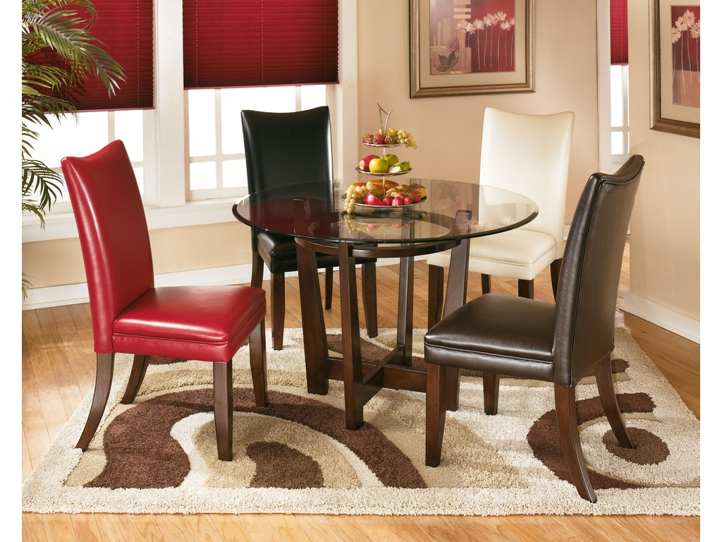 Signature design by ashley round dining room table d357 15 hickory furniture mart hickory nc - Ashley dining rooms ...