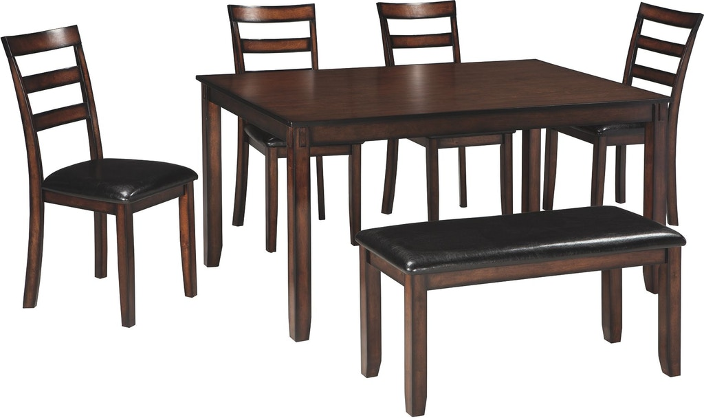Signature Design By Ashley Coviar Dining Room Table And Chairs With Bench Set Of 6 D385 325