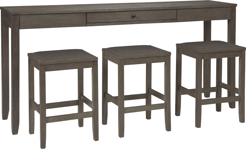 Signature Design By Ashley Bar And Game Room Caitbrook Counter Height Dining Table And Bar Stools