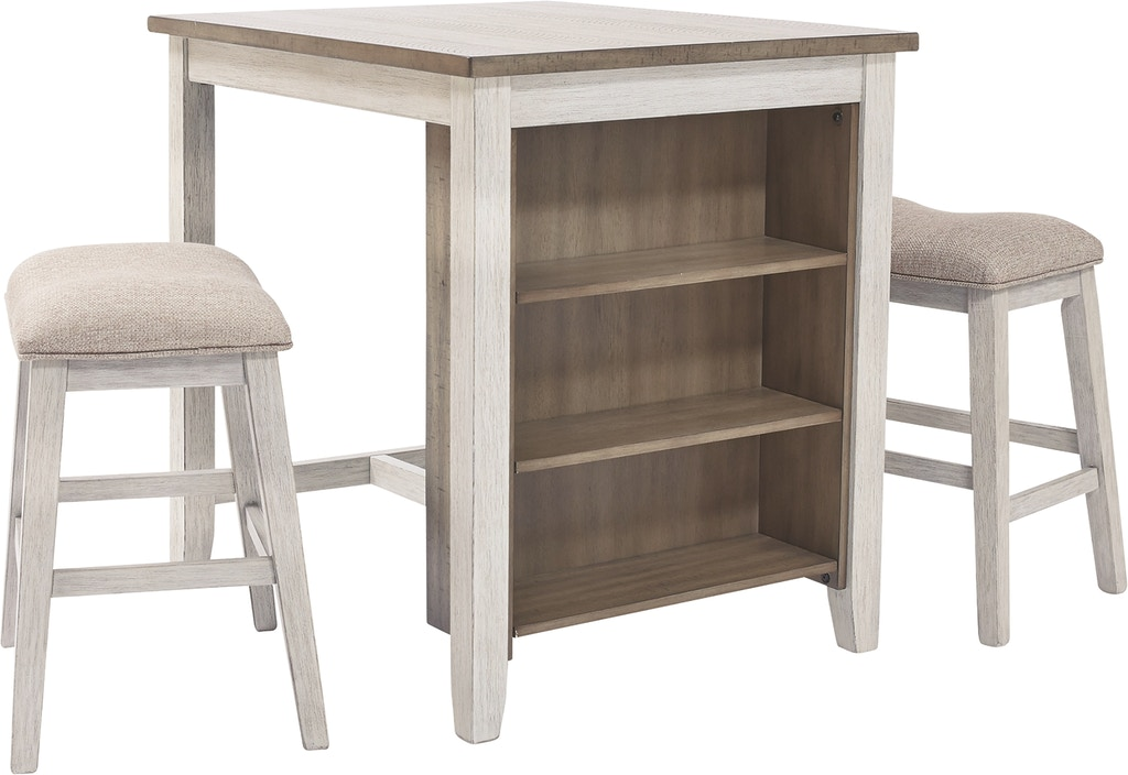 Signature Design By Ashley Bar And Game Room Skempton Counter Height Dining Table And Bar Stools