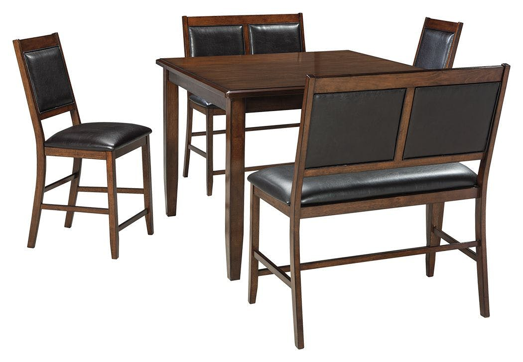 Picture of: Shop Our Meredy Counter Height Dining Room Table And Bar Stools Set Of 5 By Signature Design By