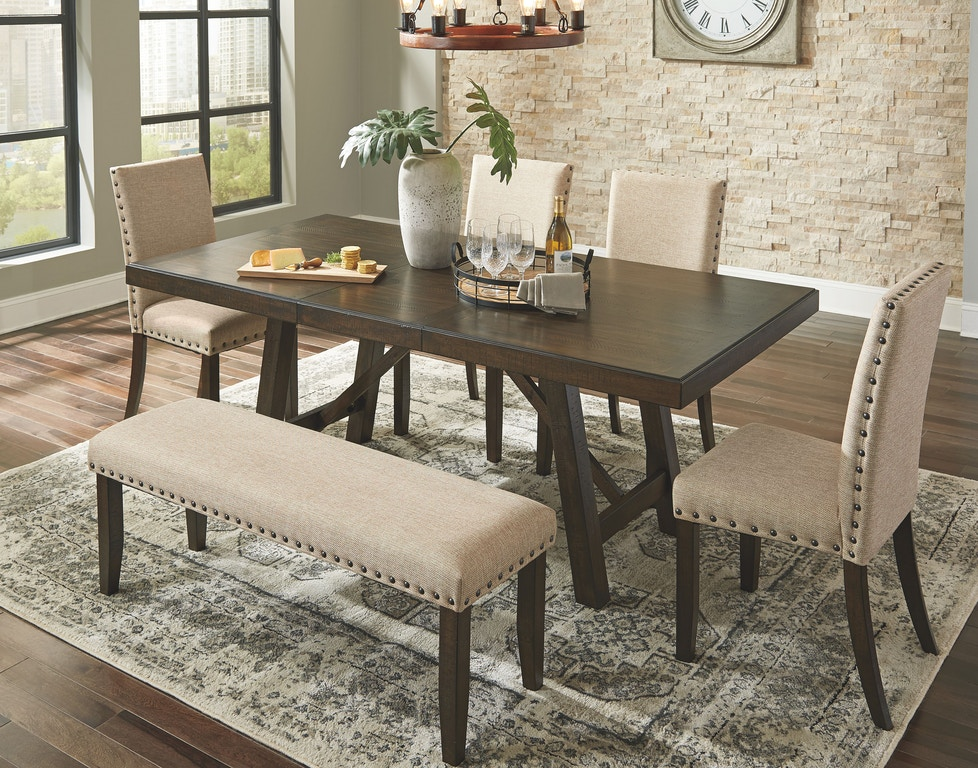 Signature Design By Ashley Rokane Dining Room Extension Table D397 35 Fiore Furniture Company