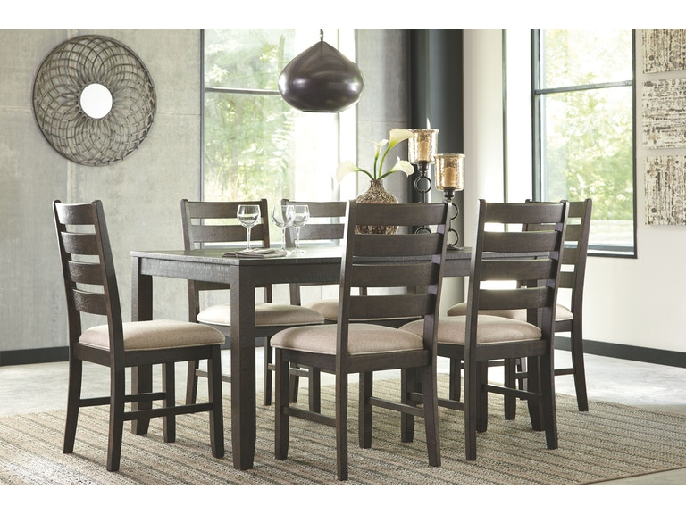 Signature Design By Ashley Dining Room Table Set 7 Cn D397 425 Charter Furniture Dallas