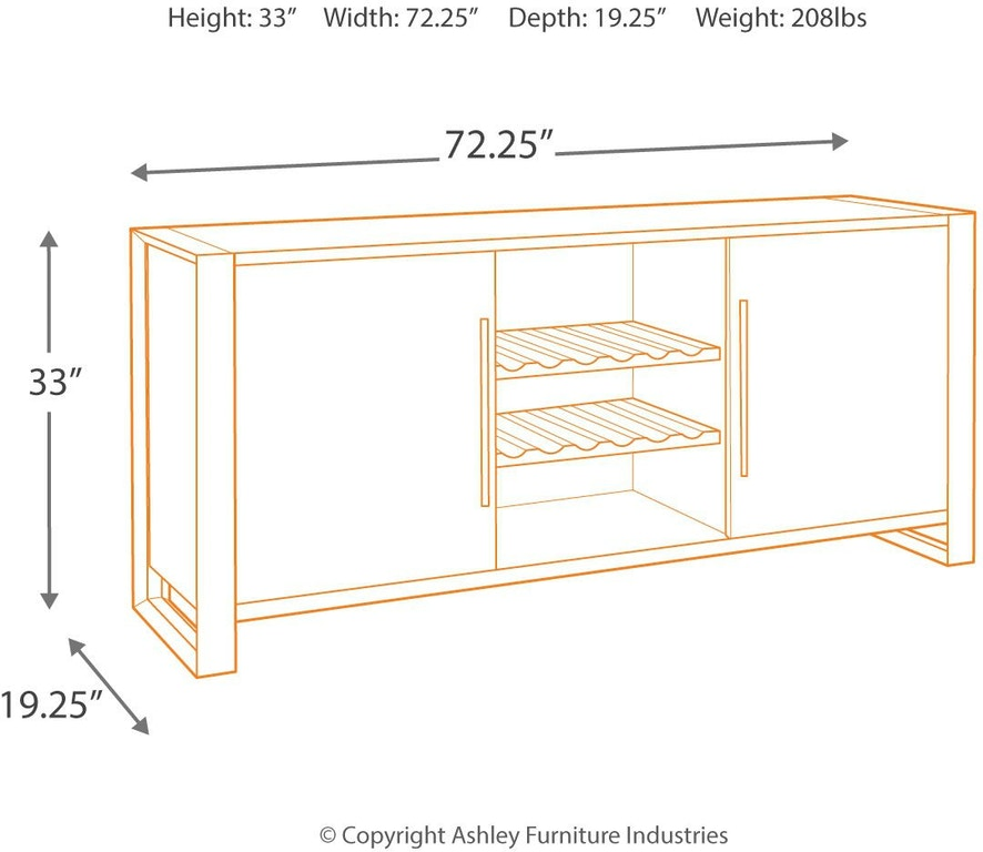 Signature Design By Ashley Chadoni Dining Room Server D624