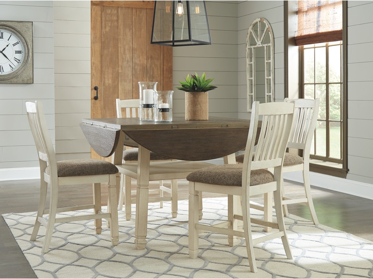 signature design by ashley dining room round drop leaf counter table d647 13 at gavigan s furniture