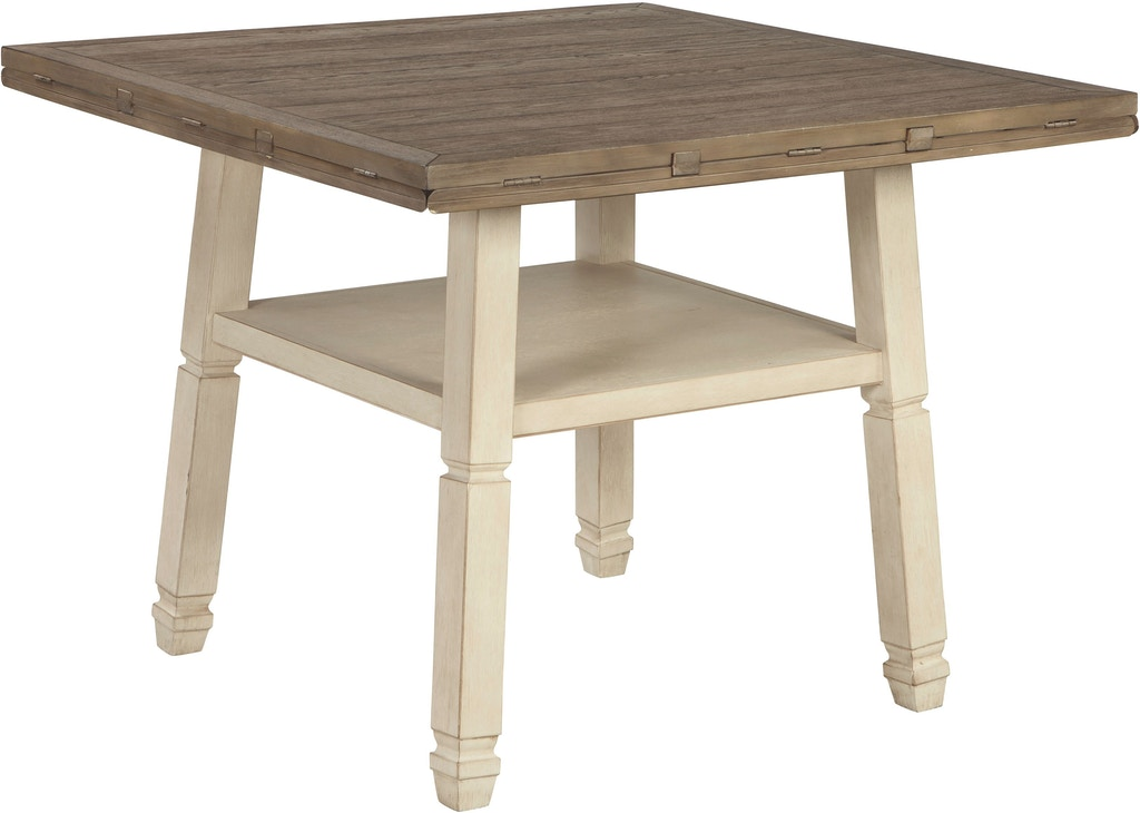 Signature Design By Ashley Bolanburg Counter Height Dining Room Drop Leaf Table D647 13 Markson S