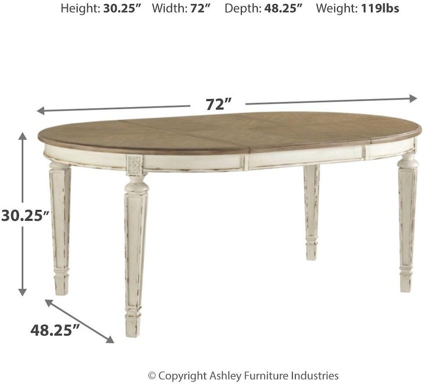 Signature Design By Ashley Dining Room Realyn Dining Extension Table D743 35 Trivett S Furniture Fredericksburg Va