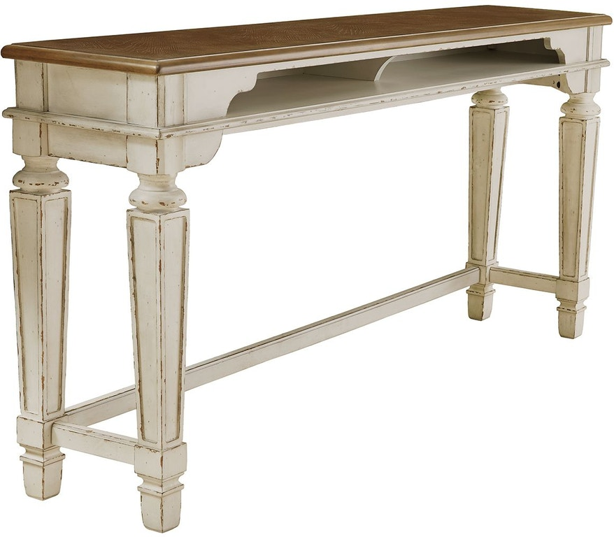 Signature Design By Ashley Realyn Counter Height Dining Room Table D743 52 Woodstock Furniture