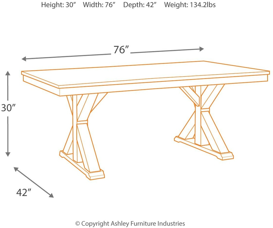 Ashley D754 05: Signature Design By Ashley Grindleburg Dining Room Table