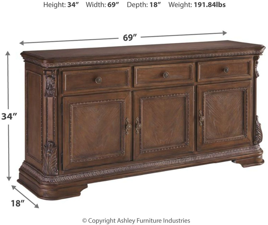 Ashley S Nest Decorating A Dining Room: Signature Design By Ashley Charmond Dining Room Buffet