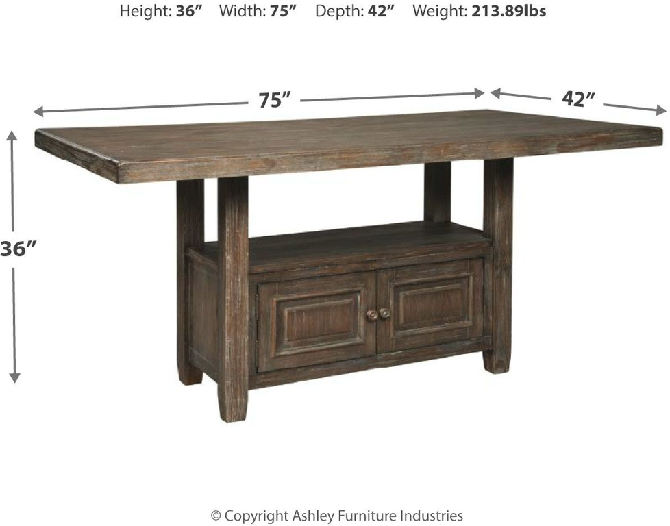 Signature Design By Ashley Wyndahl Counter Height Dining Room Table D813 32 Markson S Furniture