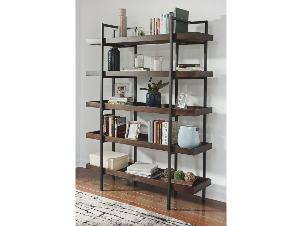 signature design by ashley home office bookcase h633 70. Black Bedroom Furniture Sets. Home Design Ideas
