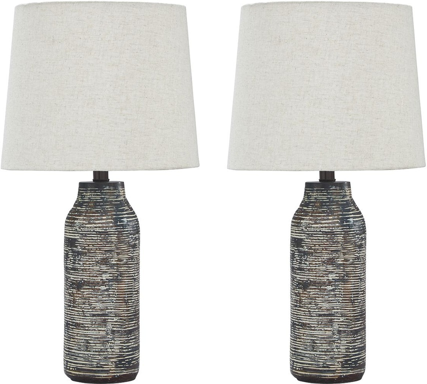 Signature Design By Ashley Lamps And Lighting Mahima Table Lamp Set Of 2 Frazier And Son