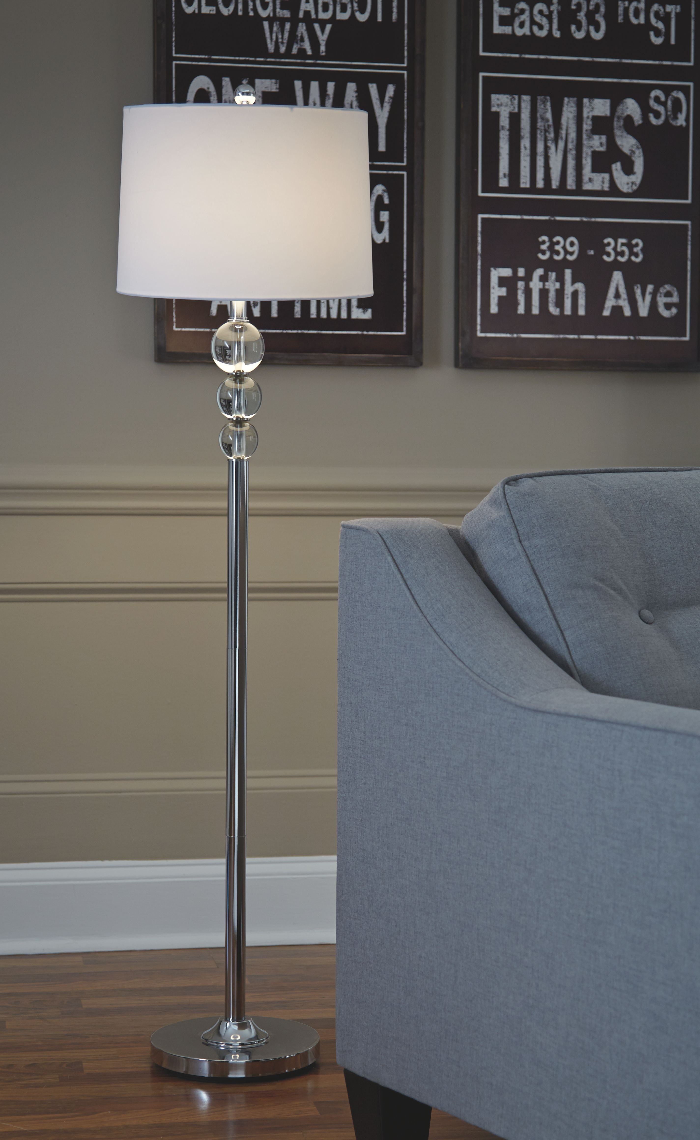Signature Design By Ashley Crystal Floor Lamp 1cn On Sale At