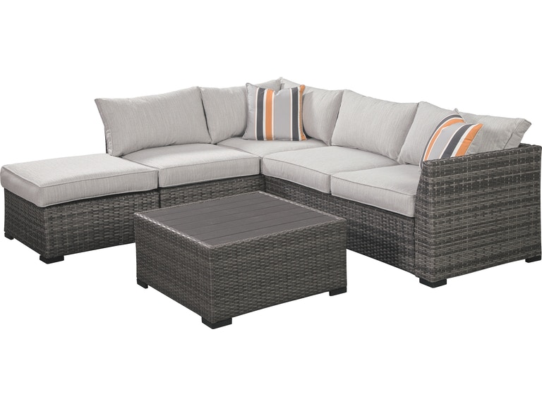 Signature Design by Ashley Cherry Point 4-piece Outdoor Sectional