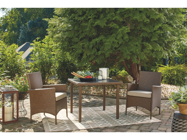 Signature Design By Ashley Outdoor Patio Square Dining Table Set 3