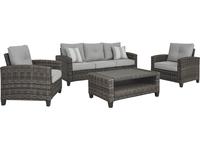 Signature Design by Ashley Outdoor/Patio Cloverbrooke 4-Piece