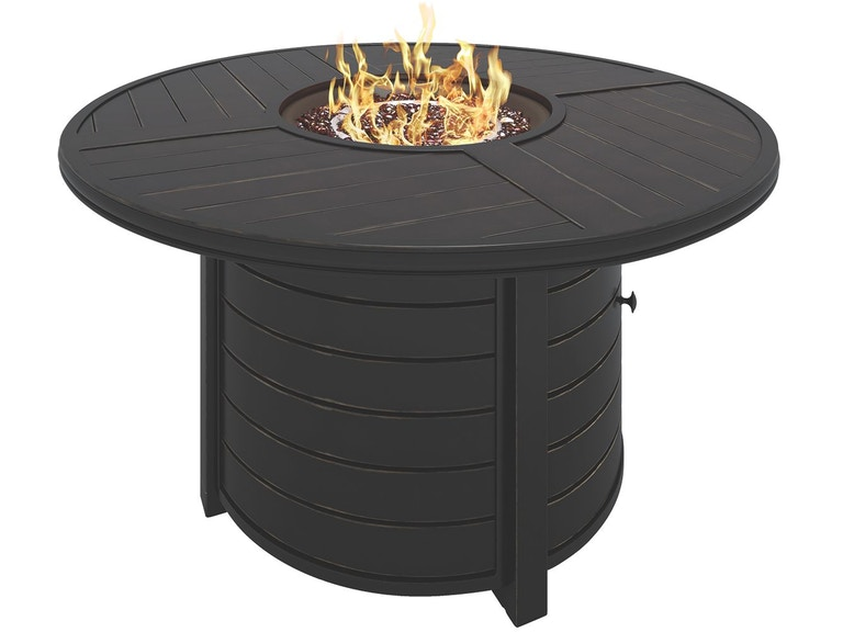 Signature Design By Ashley Outdoor Patio Castle Island Fire Pit Table P414 776 Markson S