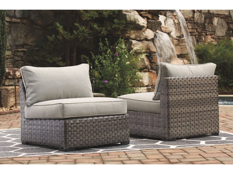 Signature Design By Ashley Outdoor Patio Armless Chair W Cushion 2