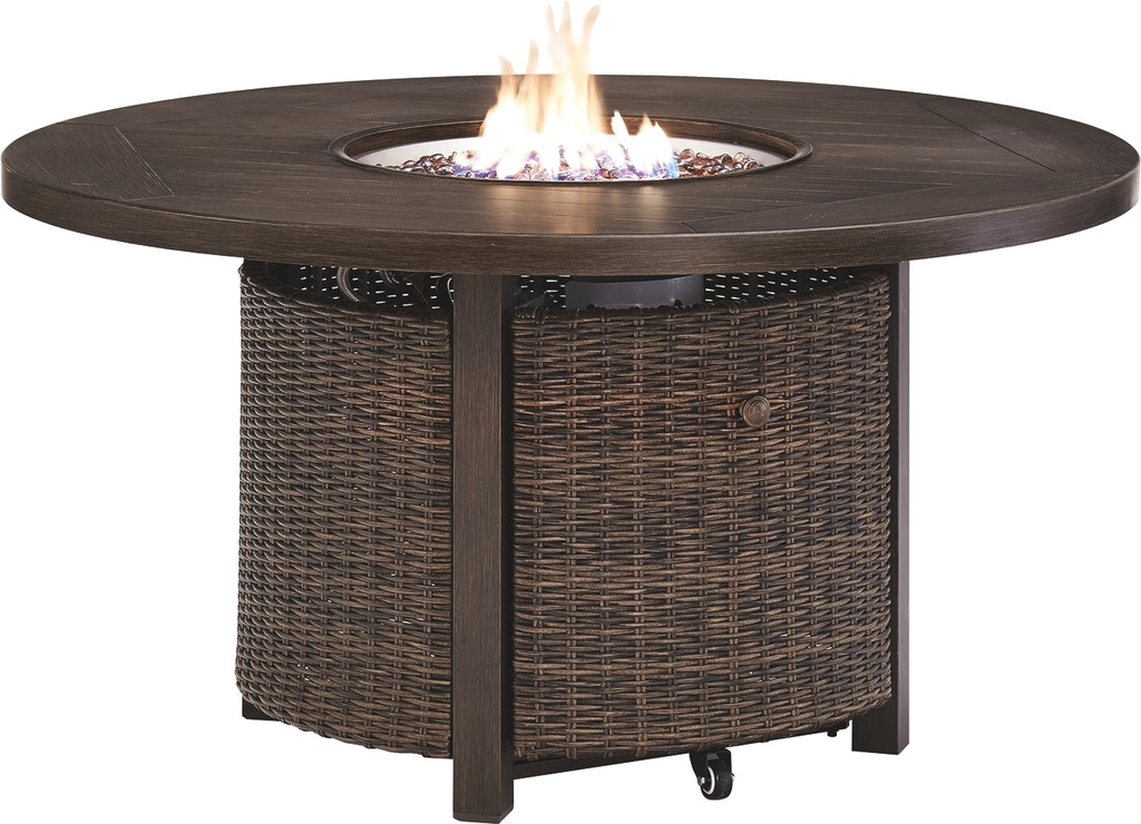 Signature Design By Ashley Outdoor Patio Paradise Trail Fire Pit Table P750 776 Markson S