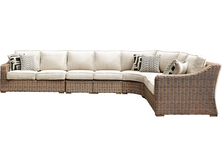 Signature Design by Ashley Outdoor/Patio Beachcroft 5 ... on Beachcroft Beige Outdoor Living Room Set id=70101