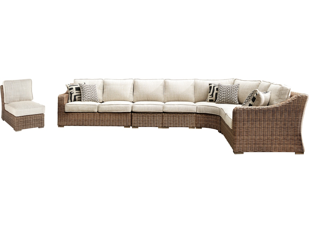 Signature Design by Ashley Outdoor/Patio Beachcroft 6 ... on Beachcroft Beige Outdoor Living Room Set id=78639