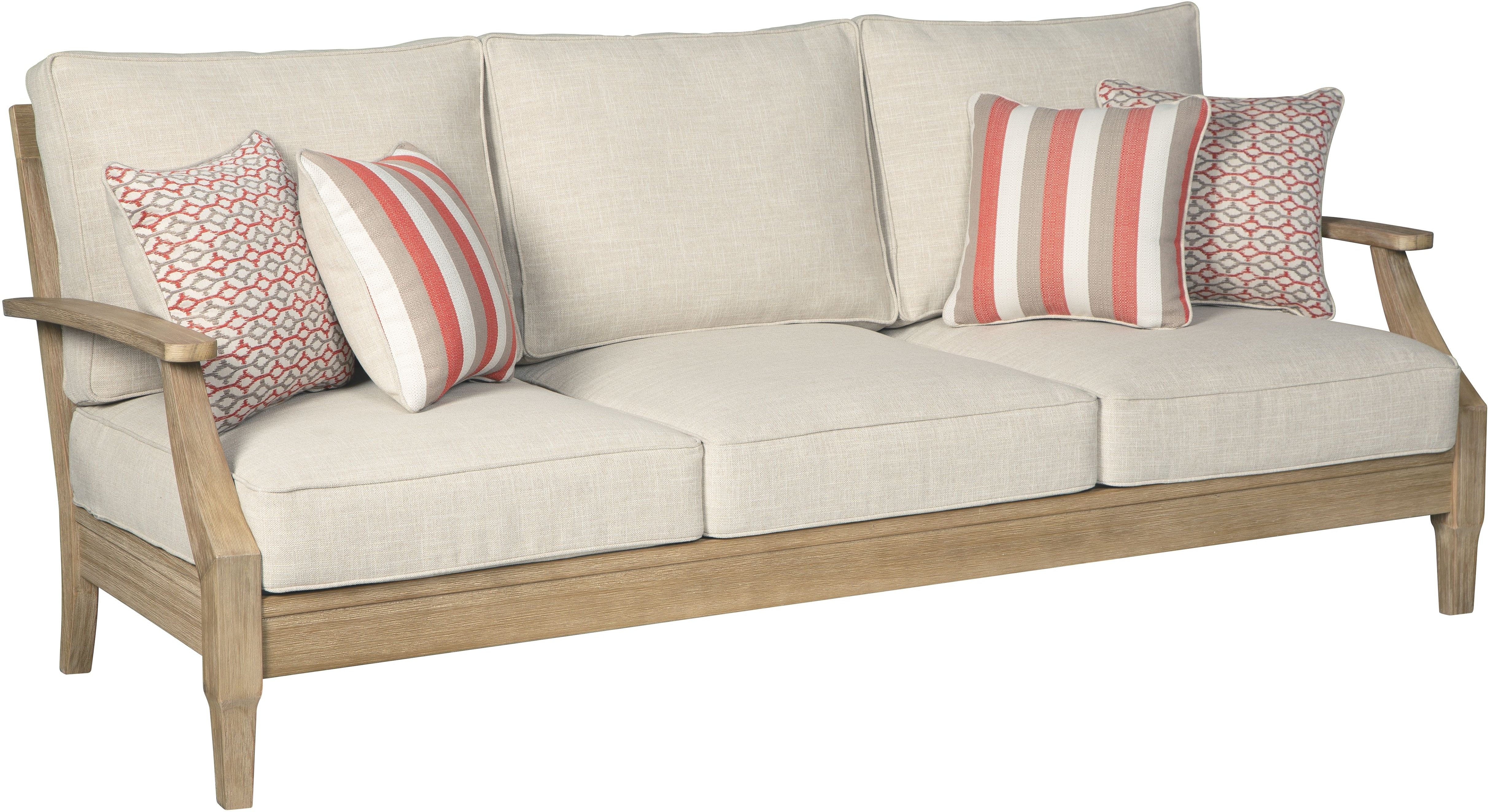 Signature Design by Ashley Outdoor/Patio Clare View Sofa ... on Clare View Beige Outdoor Living Room id=95118