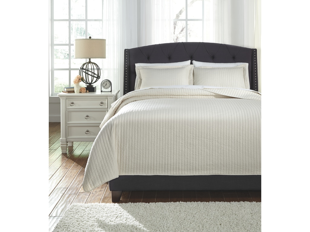 Signature design by ashley bedroom king coverlet set for New look bedroom