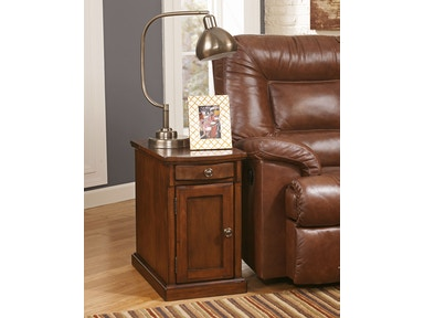 Laflorn Power Side Table - Brown 038207