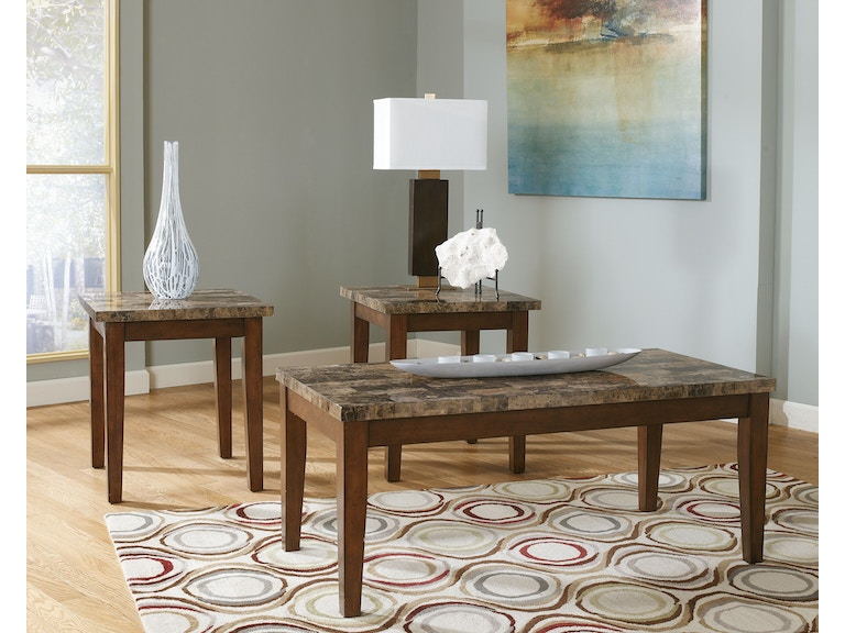 Signature Design By Ashley Living Room Theo Occasional Table Set Z82002 Furniture Fair