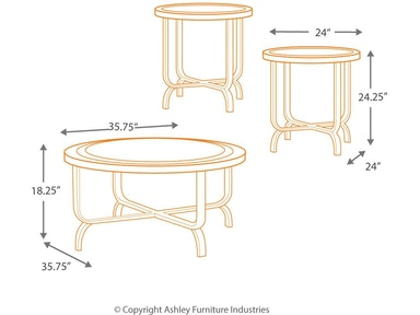 Signature Design By Ashley Living Room Ferlin Table Set Of 3 T238 13 Furniture Kingdom