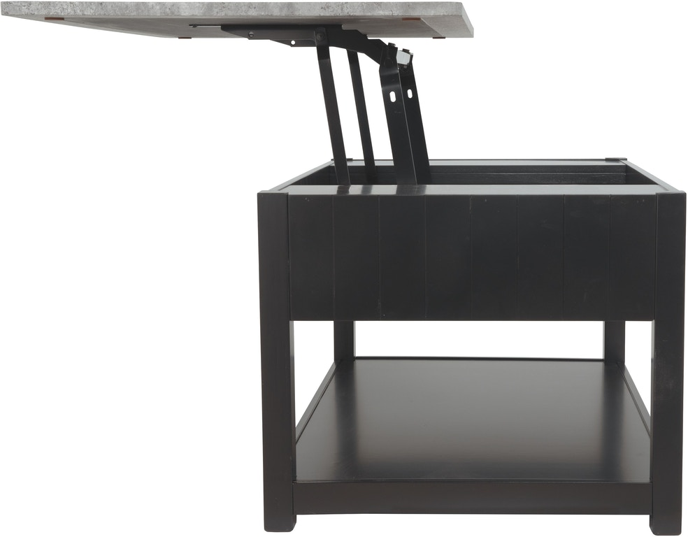Ezmonei Black Gray Coffee Table With Lift Top By Signature