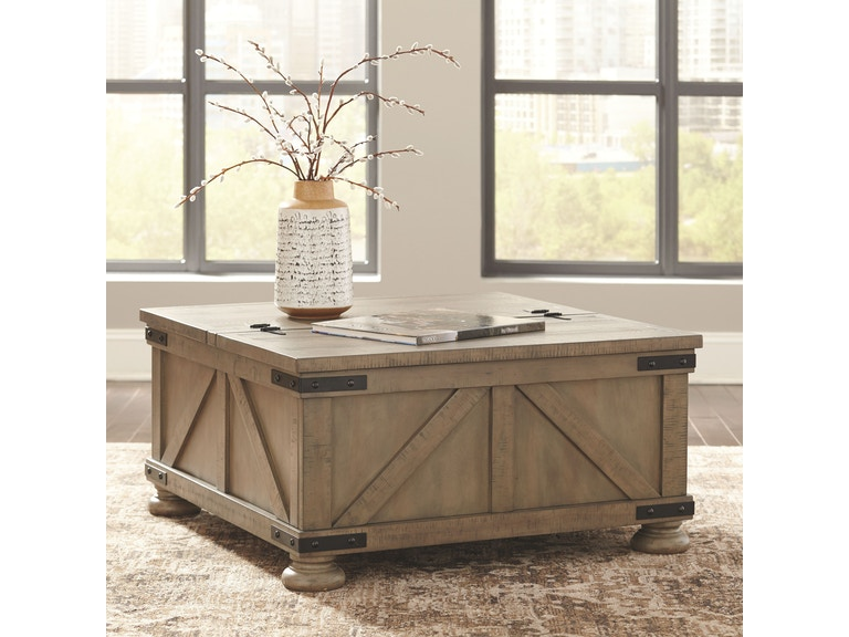 Signature Design By Ashley Living Room Cocktail Table With Storage