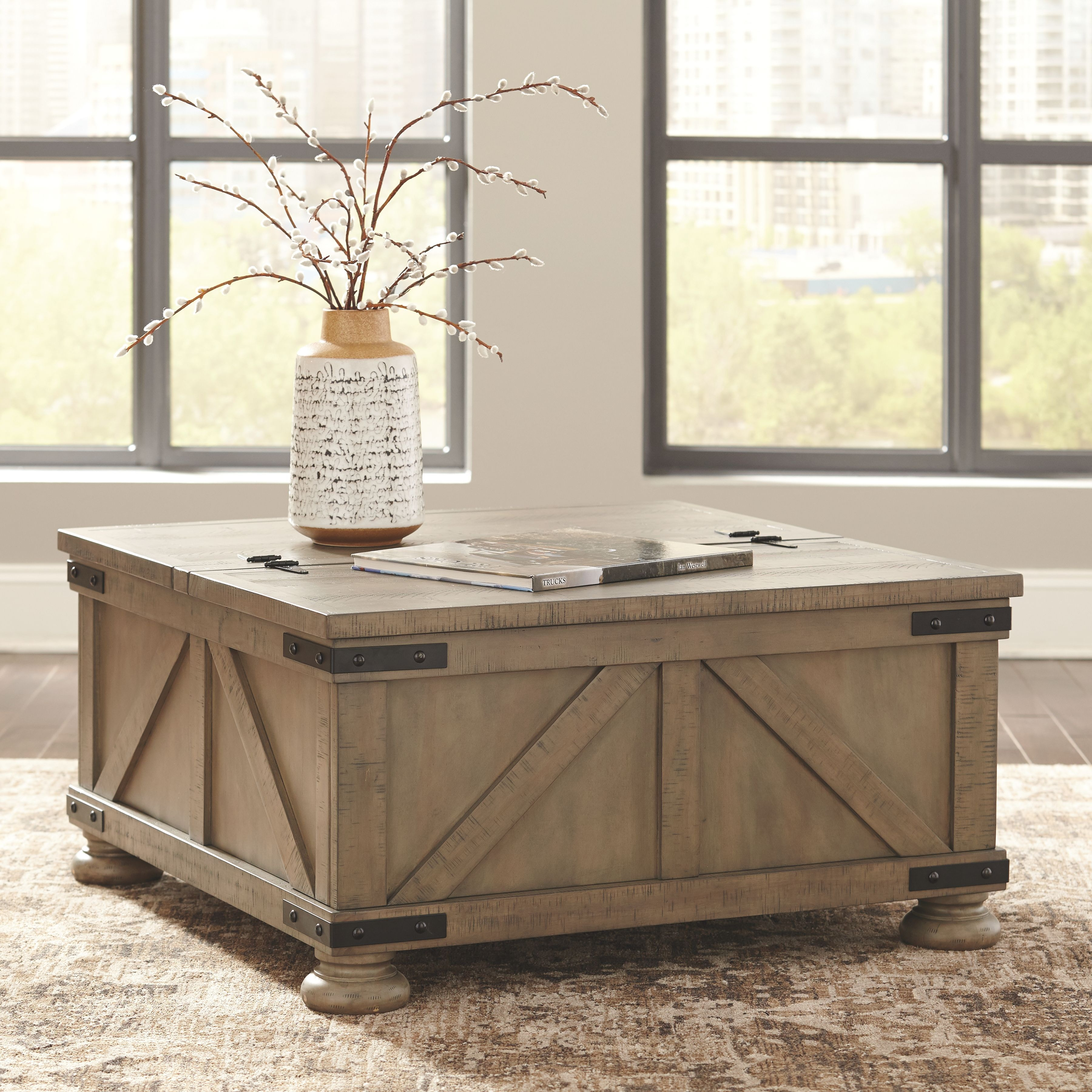 Signature Design By Ashley Cocktail Table With Storage T457 20