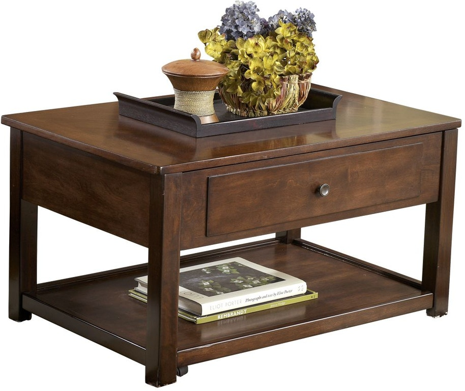 Marion Dark Brown Lift Top Coffee Table