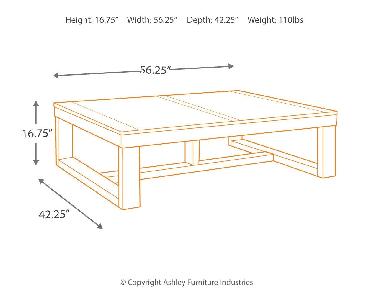Signature Design By Ashley Living Room Watson Coffee Table T481 1 Lynchs Furniture Auburn