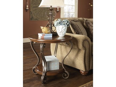 Signature Design by Ashley Round End Table T517-6
