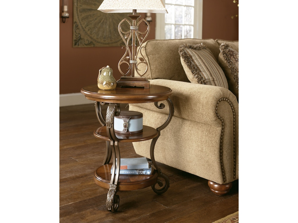Signature design by ashley living room chair side end for Signature home designs