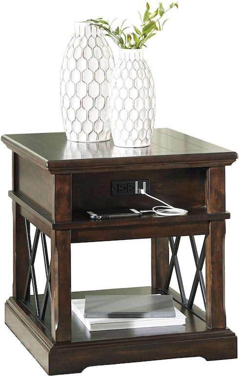 Roddinton End Table With Usb Ports And Outlets