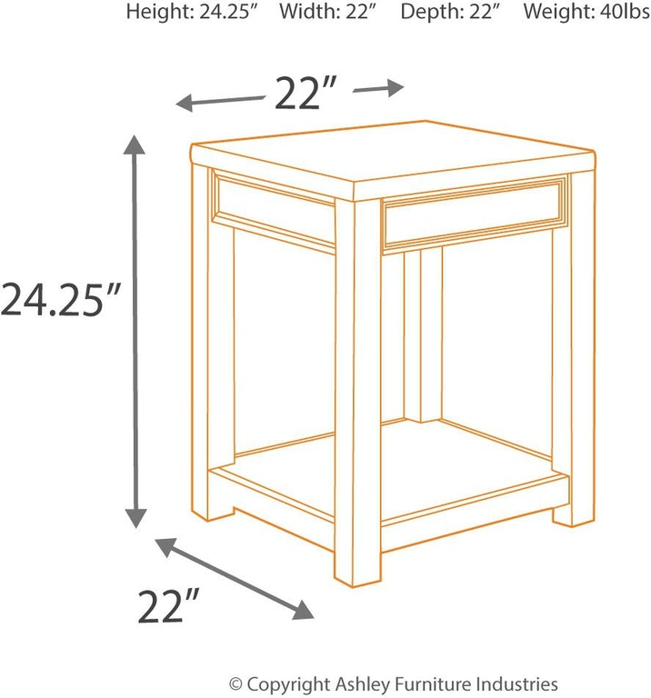 Signature Design By Ashley Living Room Gavelston End Table
